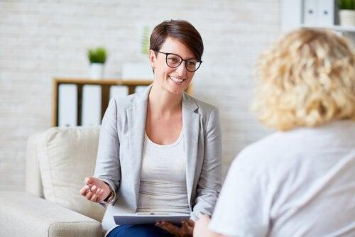 terapeutti ja potilas