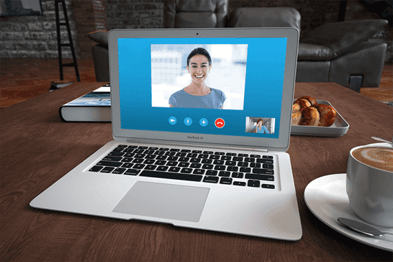 nettiterapia Skypen välityksellä