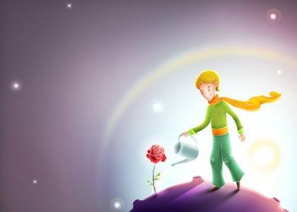 pikku prinssi kastelee ruusua
