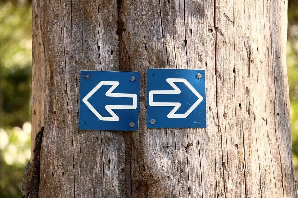 oikealle vai vasemmalle