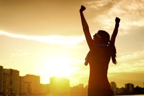 nainen ja voitontunne