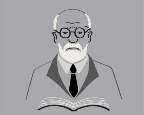 Freud lukee kirjaa