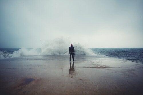 Mies ja myrskyävä meri