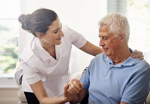 potilas ja hoitaja
