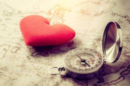 sydän ja kompassi