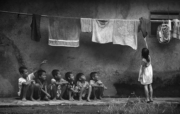 köyhiä lapsia