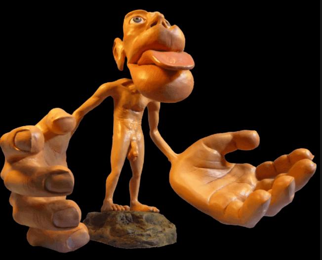 homunculus: ihminen jolla isot kädet ja pää