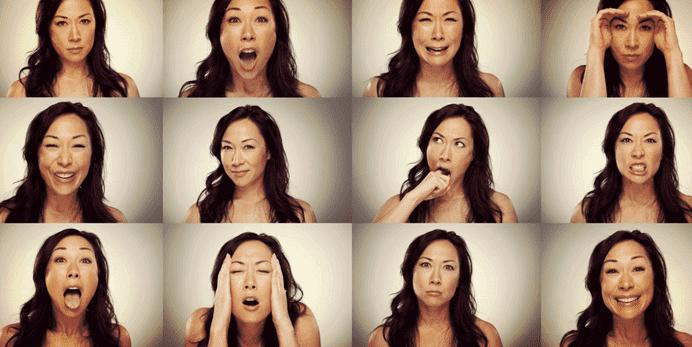 mitä tunteet ovat: nainen ja erilaiset tunteet