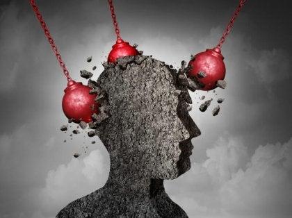 vahvan itsetunnon kehittäminen: pää tuhoutuu