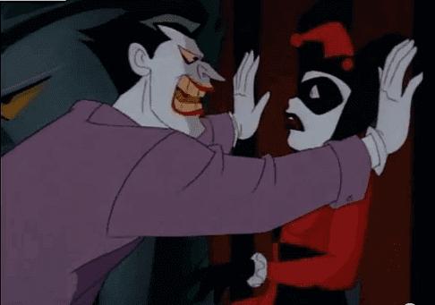 Jokeri ja Harlekiini riitelevät