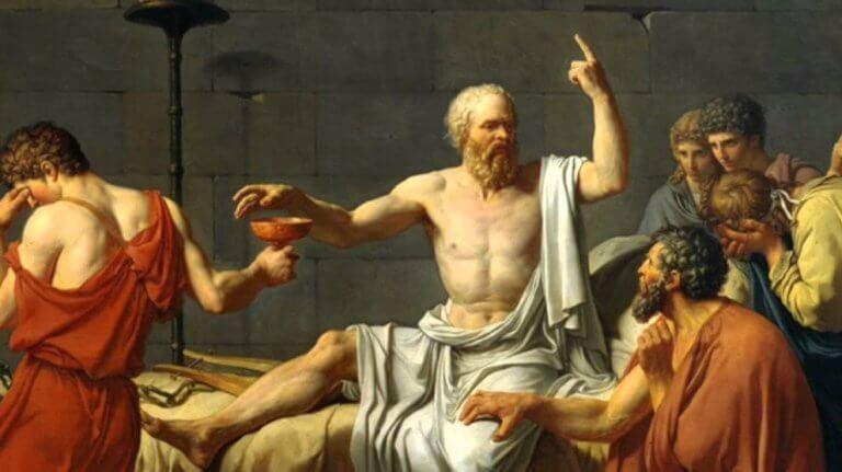 Demosthenes ja kuuntelijajoukko