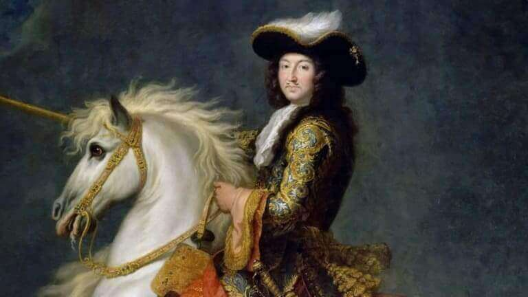 Ludvig XIV hevosen selässä