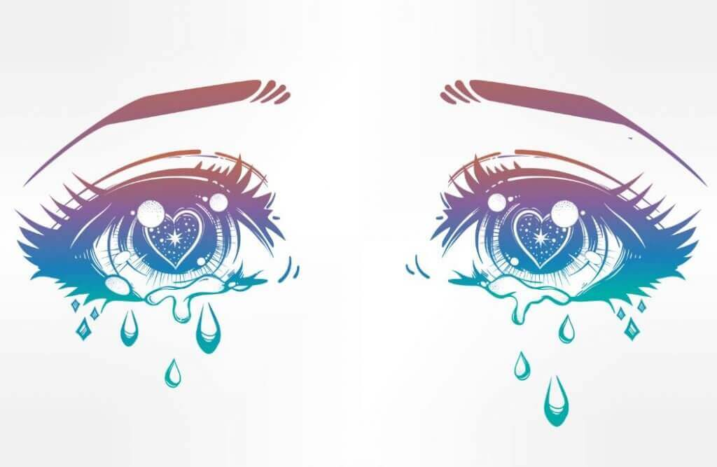 masennus on surulliset kyynelsilmät