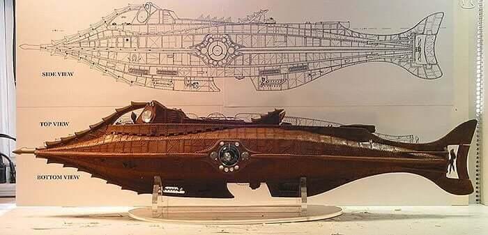 Jules Verne piirsi sukellusveneen
