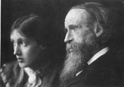virginia woolf isänsä kanssa