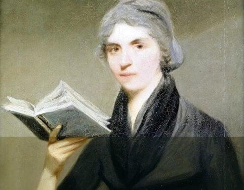 Mary Wollstonecraft kirjan kanssa