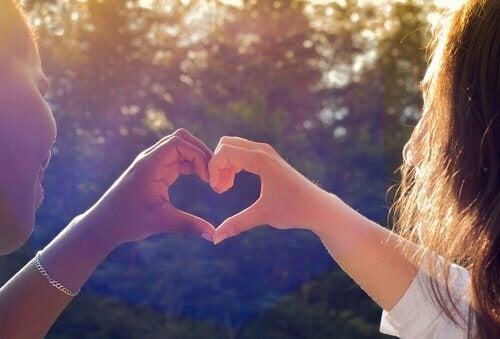 ystävät ja sydän