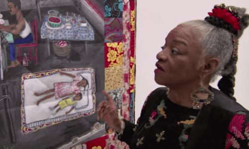 Ringgoldin teosten teemoilla on tapana kulkea kaukana amerikkalaisesta nykytaiteesta