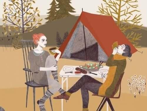 telttaretkellä