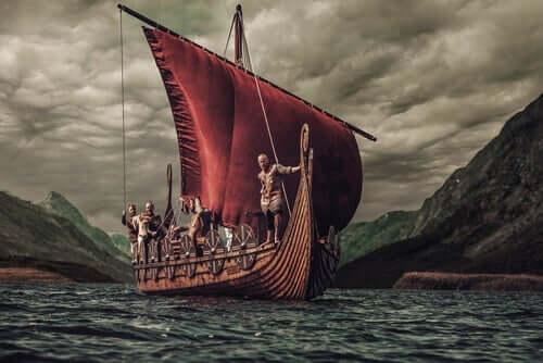viikingit laivassaan