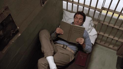 kohtaus elokuvasta Pako Alcatrazista