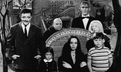 Alkuperäinen Addamsin perhe.
