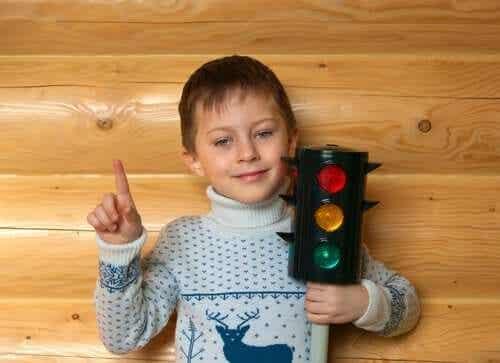 Liikennevalomenetelmä vihanhallintaan lapsille