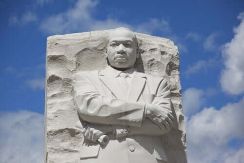 Martin Luther King Jr.:n muistopatsas.