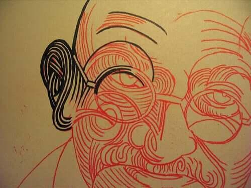 Gandhi oli henkinen ja poliittinen johtaja, joka uskoi syvästi siihen, että moraali oli ylempi voima