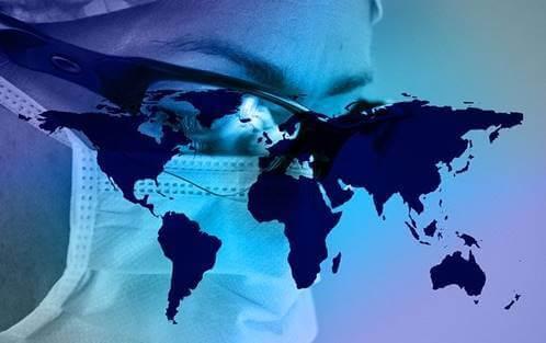 Maski ja päällä maailman maat.