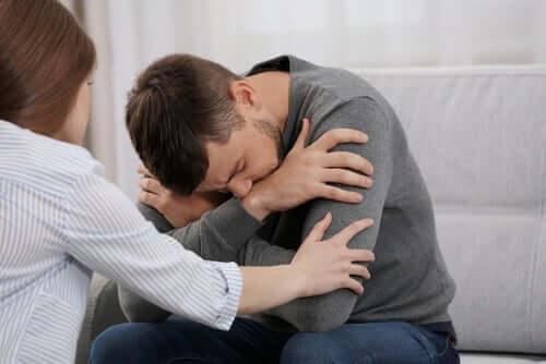 Mies on saanut masennusdiagnoosin.