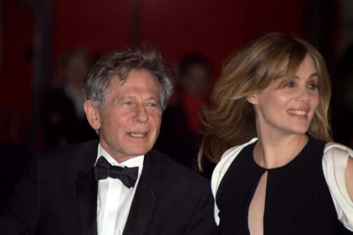 Roman Polanski vaimonsa kanssa.