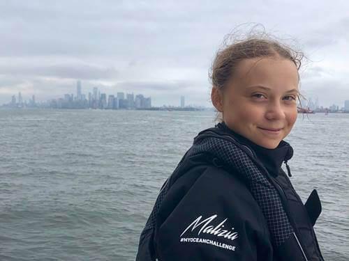 Greta Thunberg purjehti New Yorkiin.