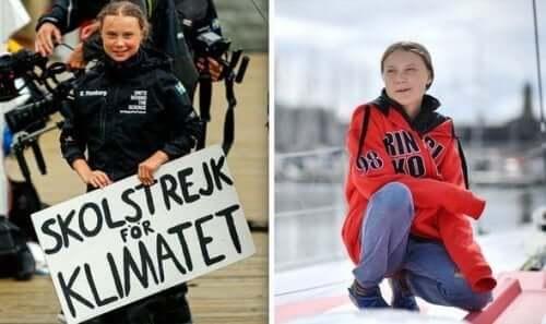 Koululainen Greta Thunberg.