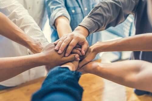 Ryhmäkoheesio on samoja tavoitteita.