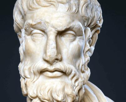 Kreikkalainen filosofi Epikuros ja hänen onnenhakunsa